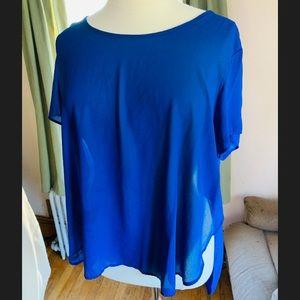 Blue flowy shirt